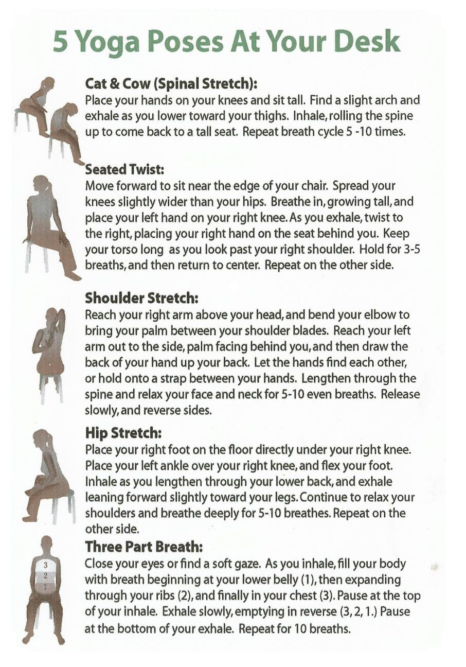 yoga poses for at work