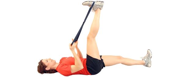 supine knee extenstion stretch